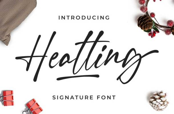 Heatting Signature Font