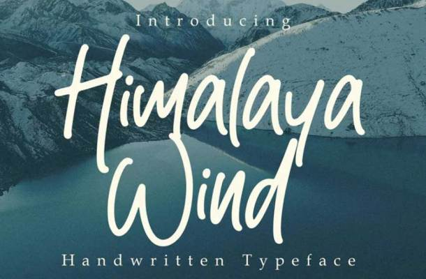Himalaya Wind Font