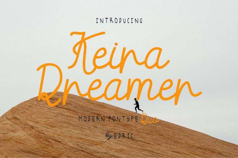 Keira Dreamer Script Font Duo