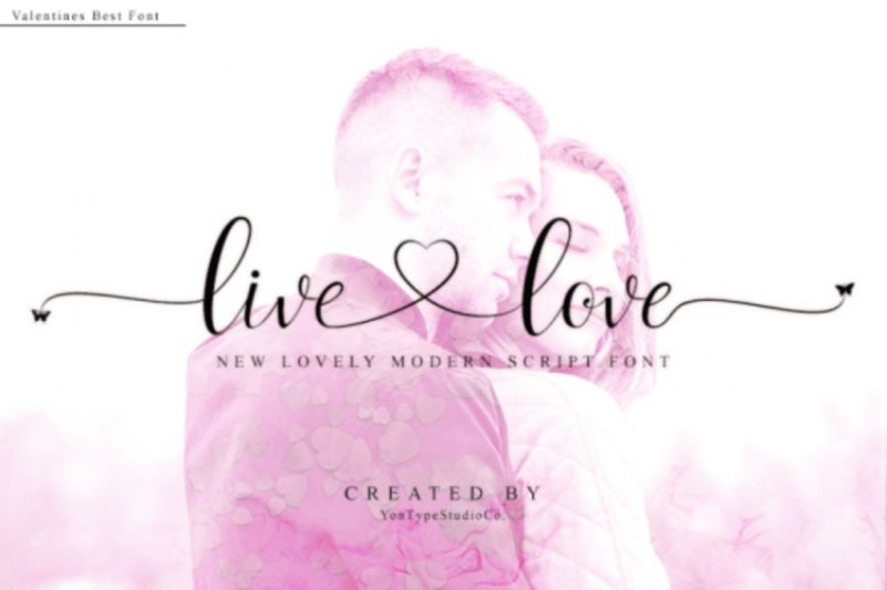 Live Love Calligraphy Font - Dafont Free  Love Calligraphy Font