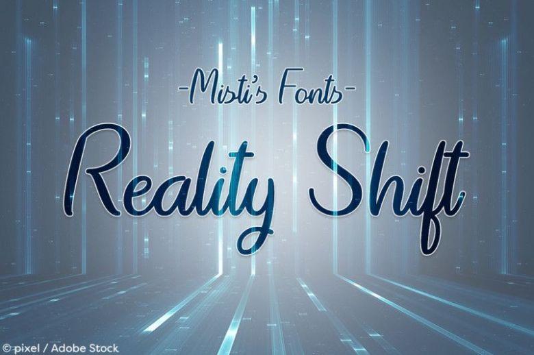 Reality Shift Font