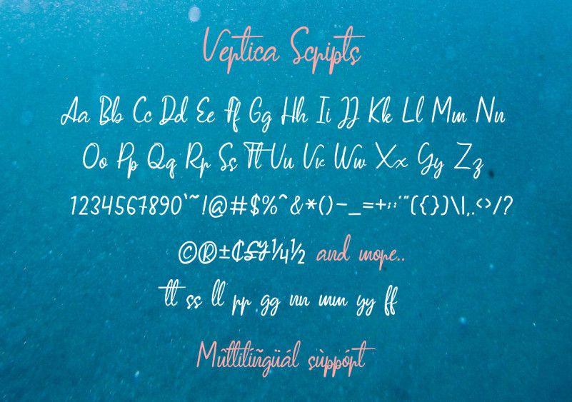 Vertica Script Font-3