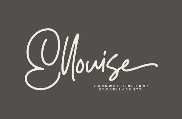 Ellouise Script Font