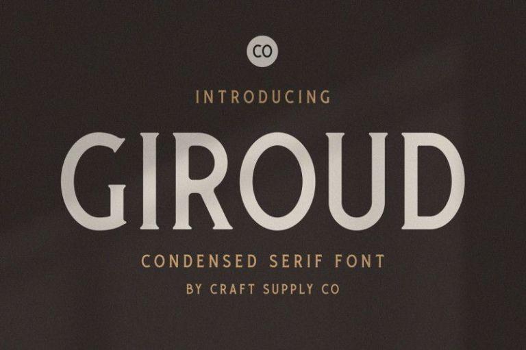 Giroud Condensed Serif Font
