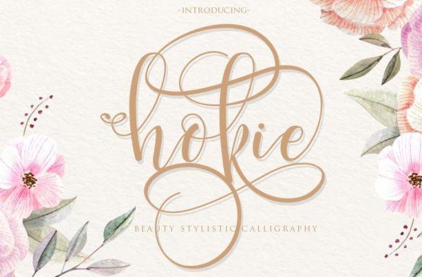Hokie Calligraphy Font
