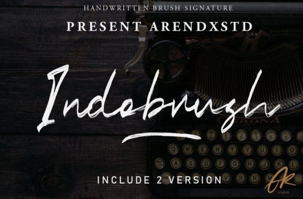 Indobrush Font