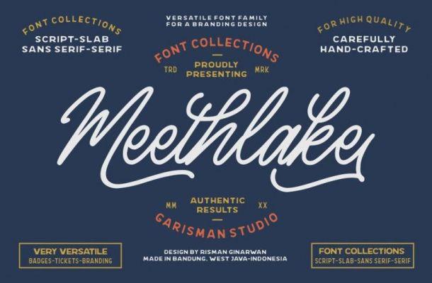 Meethlake Vintage Font