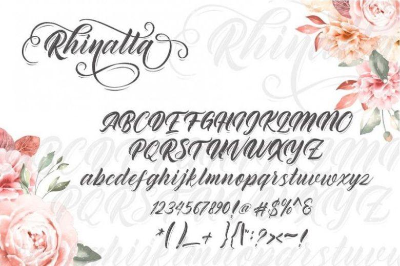 Rhinatta Script Font