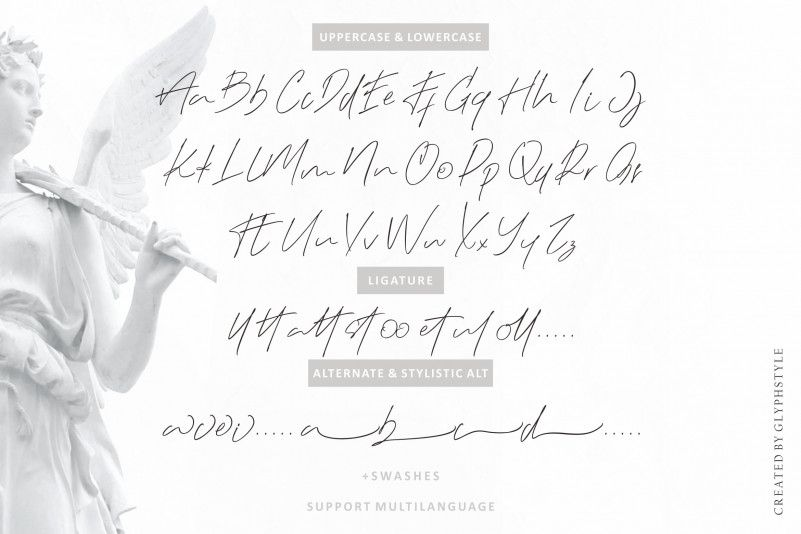 Black Angel Signature Font