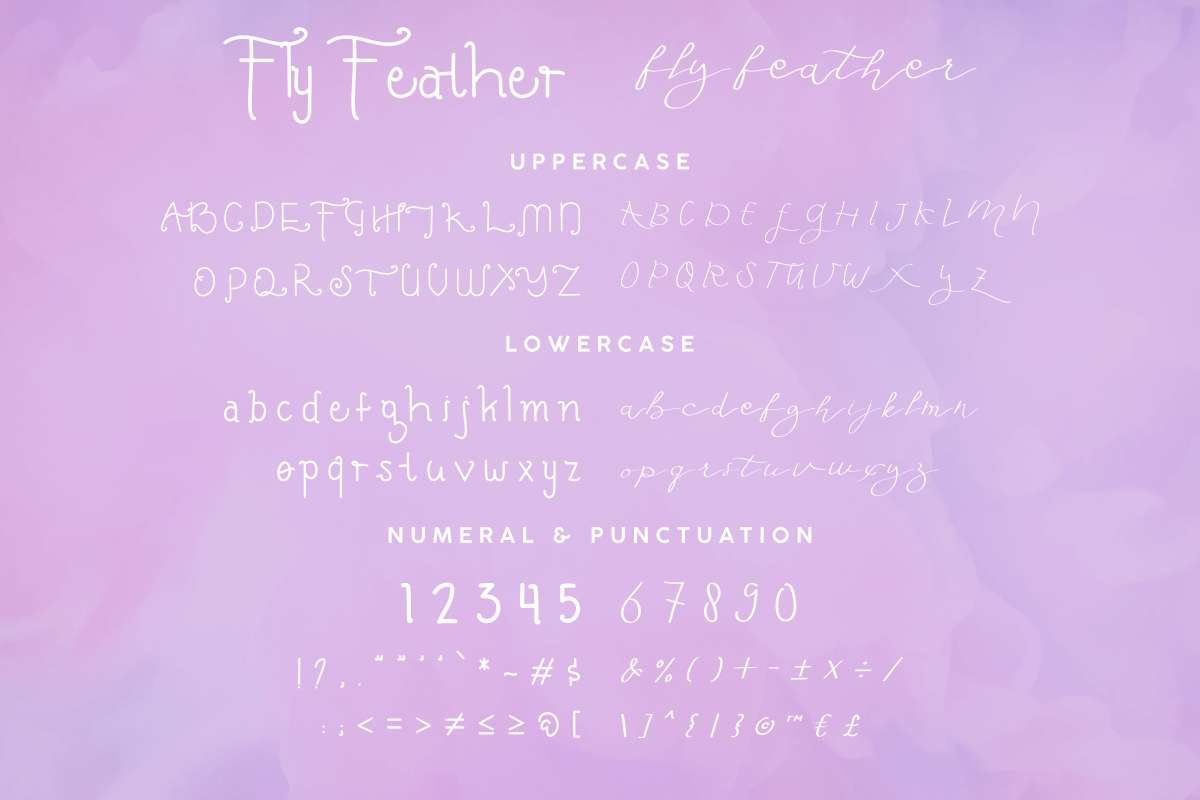 Fly Feather Font-3