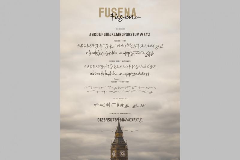 Fusena Duos Handwritten Font-2