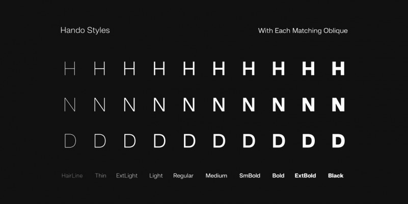 Hando Sans Serif Font Family