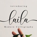 Laila Modern Calligraphy  Font