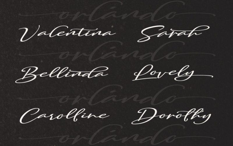 Orlando Smith Handwritten Font-3