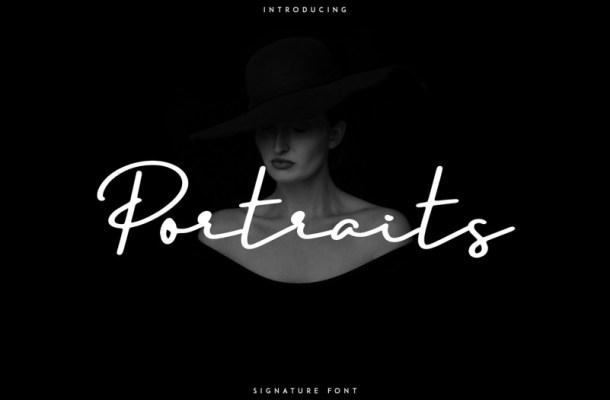 Portraits Signature Font