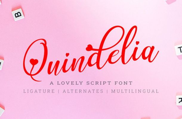 Quindelia Calligraphy Font