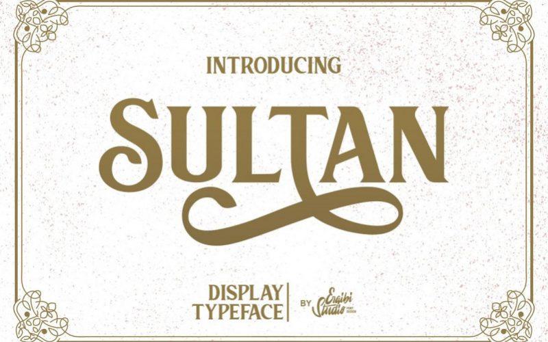 Download Sultan Serif Font - Dafont Free