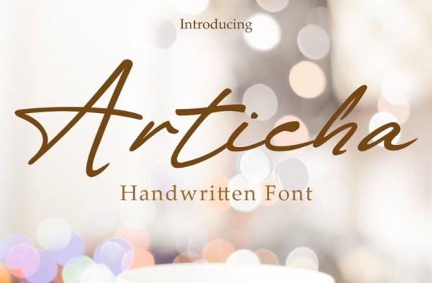 Articha Handwritten Font