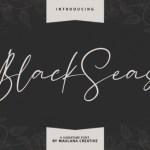 Blackseas Signature Font