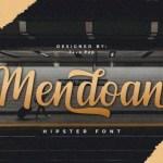 Mendoan Calligraphy Font