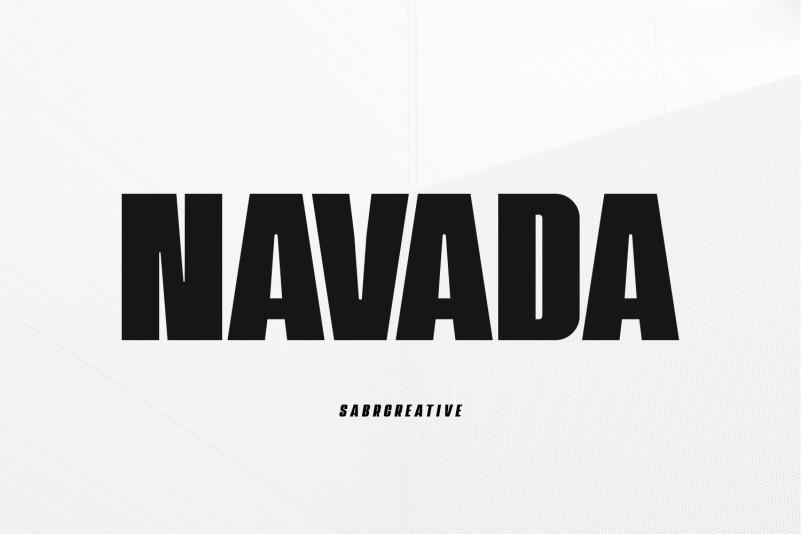 Navada Typeface Font