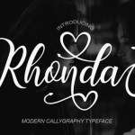 Rhonda Calligraphy Font