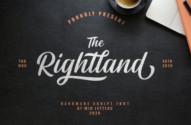 Rightland Modern Bold Script