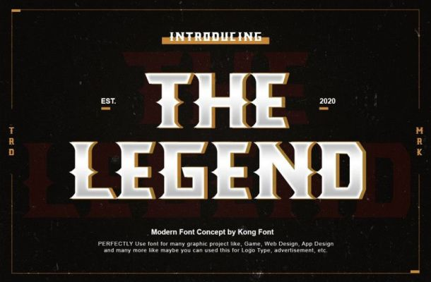 The Legend Display Font