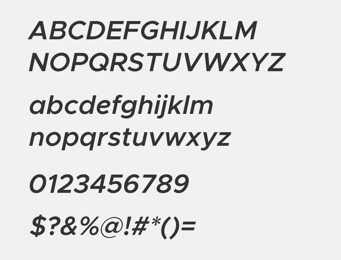 12 Metropolis semi-bold italic font avn