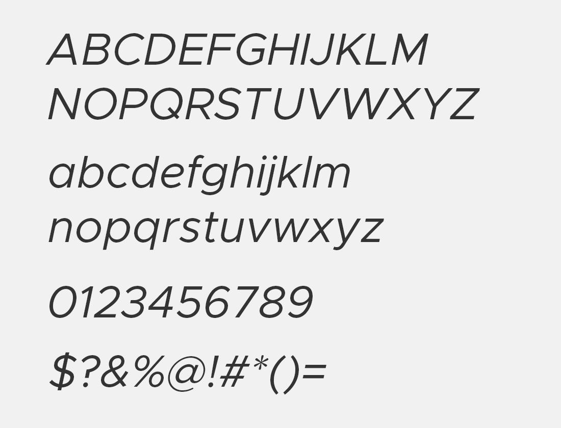 2 Metropolis italic free font