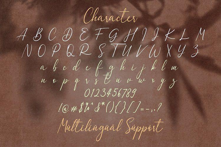 Dulan Anzelica - Signature Font-3