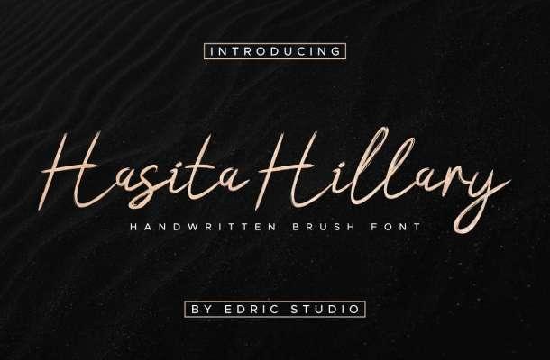 Hasita Hillary Brush Font