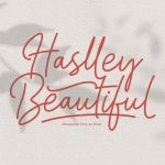 Haslley Beautiful Moniline Font