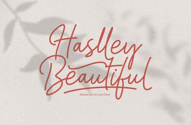 Haslley Beautiful Moniline Font