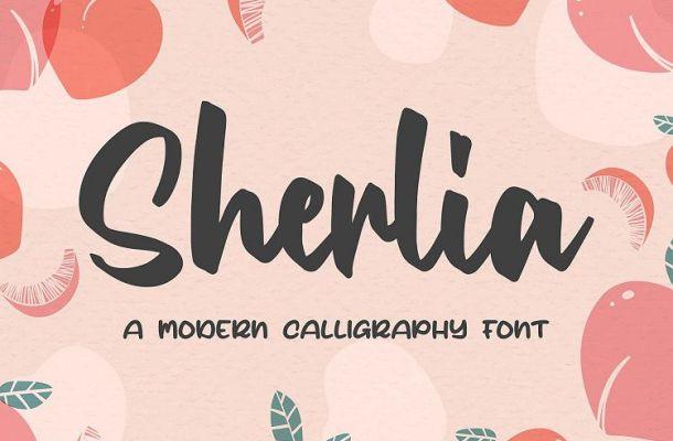 Sherlia Modern Calligraphy Font