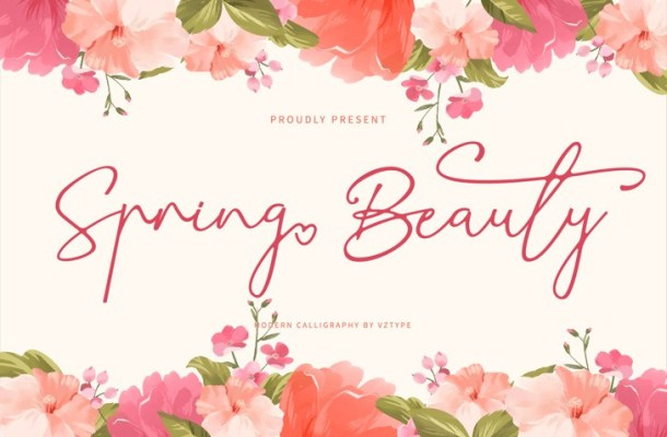 Spring Beauty Calligraphy Font