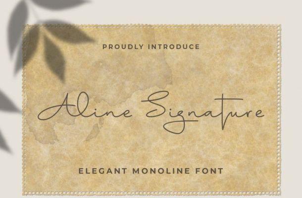 Aline Signature Font