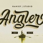 Angler Modern Script Font