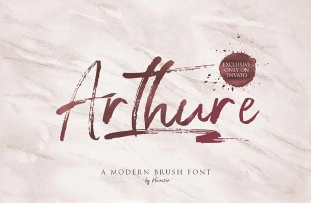 Arthure Brush Font