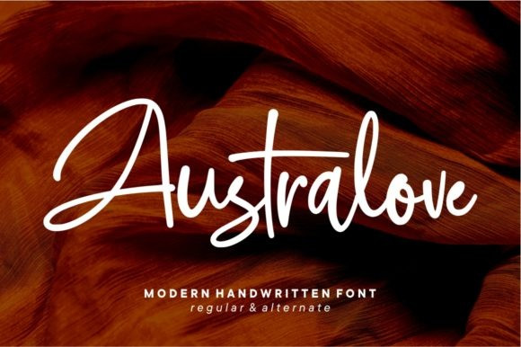 Australove Handwritten Font