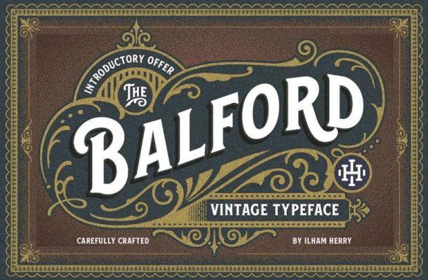 Balford Vintage Typeface