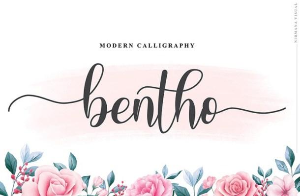 Bentho Calligraphy Font