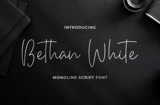 Bethan White Monoline Script Font