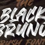 Black Bruno Brush Font