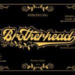Brotherhead Script Font