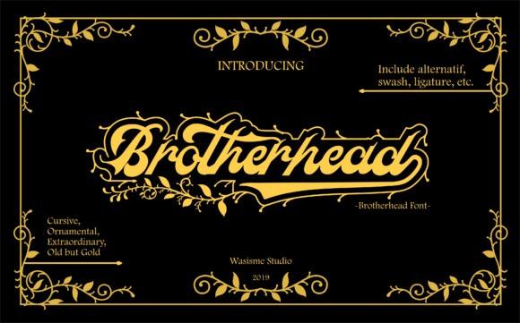 brotherhead-font