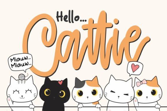 Cattie Cute Script Font