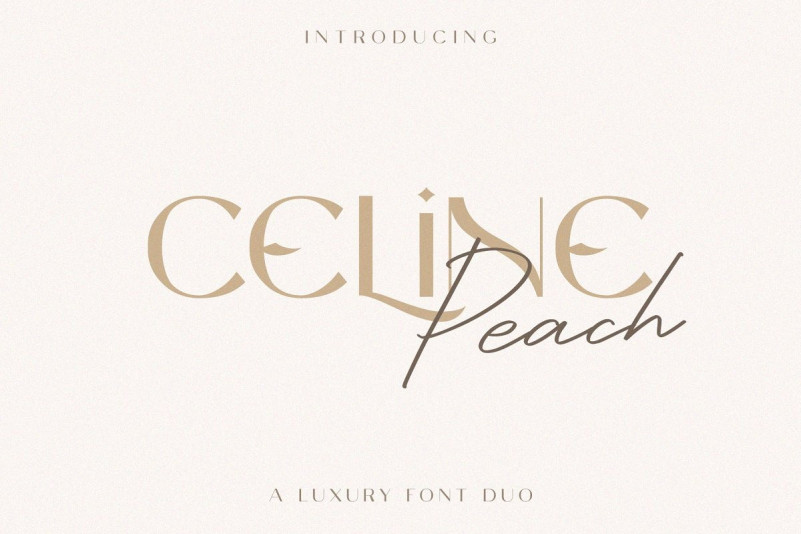 celine-peach-font