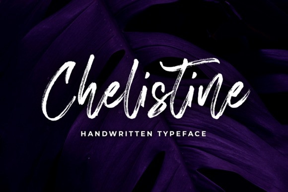 Chelistine Brush Font