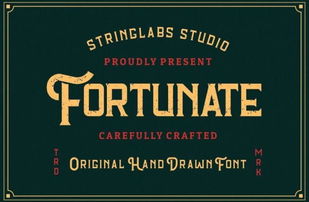 Fortunate Hand Drawn Display Font